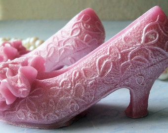 Handmade Bath Soap with Aloe Vera Glamour Girl Shoes High Heels Low Morals