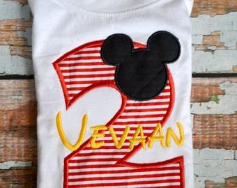Boys Mickey Mouse Shirt, Boys Birthday Shirt, Mickey Mouse Birthday Shirt,