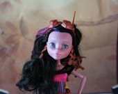 Custom Monster High Freaky Fusion Dracubecca OOAK Repaint Art Doll Collectible