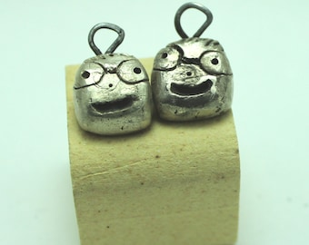 Custom Sterling Silver Nugget Charm: Pets, Kids or Other Critters