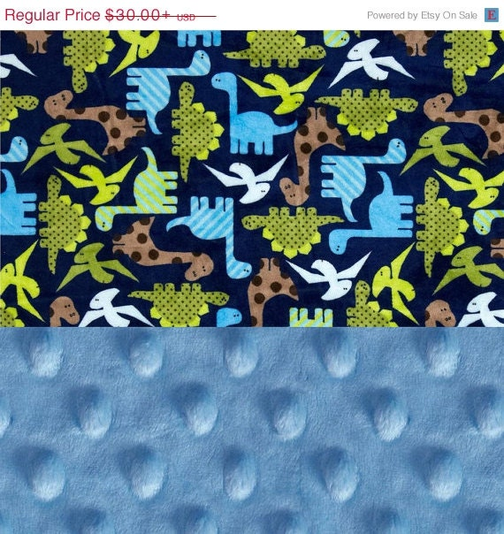 Personalized Baby Blanket / Blue Dinosaurs Minky Baby Lovey Blanket Boy // Mini Baby Blanket / Burp Cloth / Dinosaur Blanket / Shower Gift
