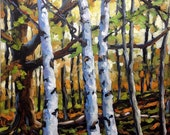 """Peace on Earth - Original Oil Painting - End of Summer Canadian Landsape - 20X24X1.5"""" created by Prankearts"""