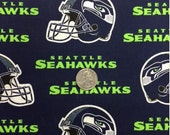 BTY Seattle Seahawks Licensed NFL Football Helmet Cotton Fabric