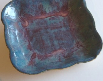 Item 242 Small Blue/Green and Purple/Pink Platter