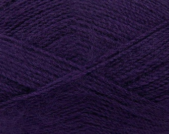 Roxana Purple - Angora/Acrylic Sock Knitting Yarn, 100 grams