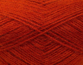 Cayenne Red - Angora/Acrylic Sock Knitting Yarn, 100 grams