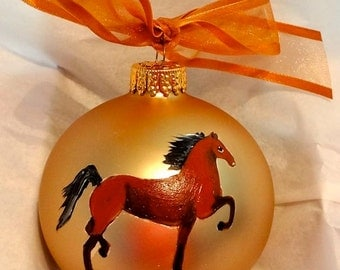 American Saddlebred Horse Hand Painted Christmas Ornament - Can Be Personalized with Name