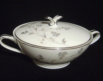 "Vintage NORITAKE lidded Sugar Bowl ""Valerie"" Discontinued"