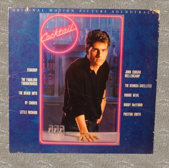 Vintage Record Sound Track Cocktail Tom Cruise Movie