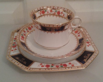 Tea Cup, Saucer, Dessert Plate Tea Set - Antique Royal Stafford c 1900-1920