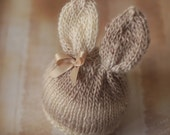 Sweet Bunny Ears Hat Detachable Bow - newborn baby photo prop