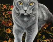 Custom Cat Portrait Paintings Cat Art Animal Portraits Pet Portraits by k Madison Moore