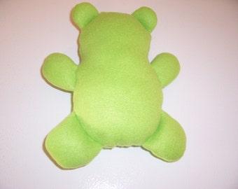 Flat teddy bear - green