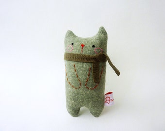 Cat Art Doll, Gift For Boyfriend, Cat Miniature, Cute Cat, Doll Cat, Plush Cat, Toy Cat - Gift For Cat Lover