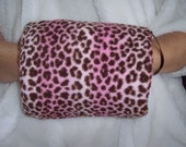 Pink Leopard Fleece Muff
