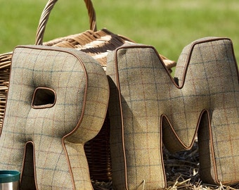 Tweed Letter Cushion