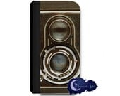 Vintage Twin Reflex Camera Wallet Case for iPhone