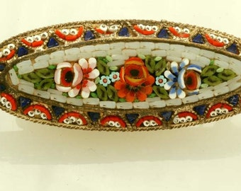 Beautiful Vintage Moasaic Pin Broach from Italy 1950s