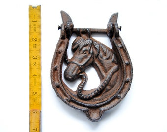 Horse Hand Painted Iron Door Knocker