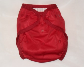 Red PUL Diaper Cover