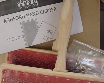 Back in stock .  .  .   Ashford Hand Cards , small, 72ppsi, for carding with Wool and other fibers .