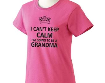 Custom Grandma Gift, Keep Calm I Can't Grandma Shirt, Size S-3x