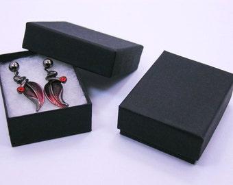 Matte Black Cotton Filled Gift Boxes 100 Qty   SALE