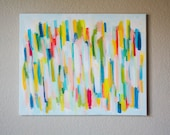 """Color Theory III """"Technicolor"""" -16x20 inch Original Acrylic Painting on Canvas"""
