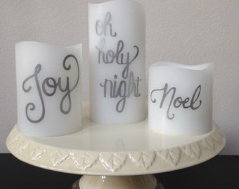 Flameless Candles, Set of Three