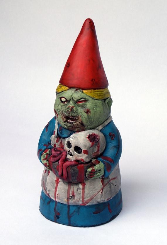 Gnome In Garden: Zombie GnomeMrs. Dead