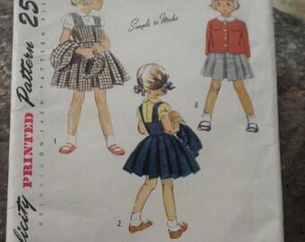 Fabulous vintage Simplicity 1949 pattern - Child's jumper, blouse, jacket & hat