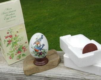 "Collectible vintage Avon Four Seasons Porcelain Egg - ""Summer's Song"""