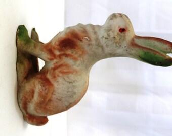 SALE Antique Papier Mache Easter Bunny 8.5 Inches