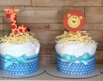 Jungle Baby Shower Centerpieces, Safari Baby Shower Centerpieces,safari baby shower cakes, jungle diaper cake, Safari Centerpieces