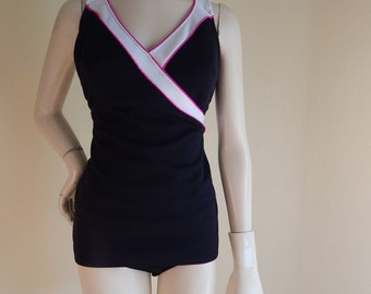 Vintage 50s Womens One Piece Swimsuit in Large