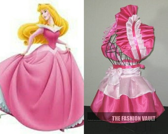 Princess Aurora dress inspired  burlesque set bolero apron bustle skirt French maid