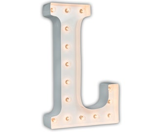 "White Letter L - 24"" Vintage Marquee Lights"