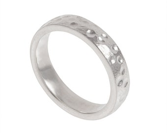 Volcano Rock Mens Wedding Ring- Made to order in your size, material and dimensions