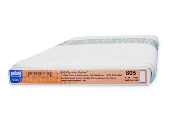 "Pellon 805 Wonder-Under is the Original Paper-Backed Fusible Web  17"" Wide Sold by the Yard"