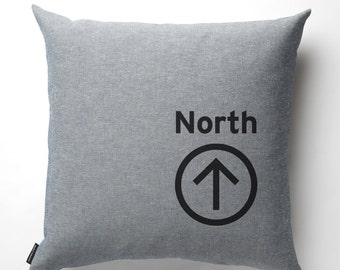 North Pillow in Denim with fill