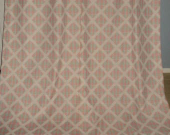 VINTAGE double sided pattern  curtains 2 wide extra long panles