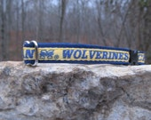 University of Michigan Wolverines Cat or Small Dog Collar