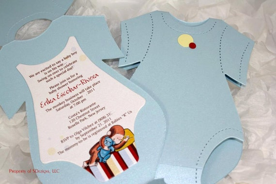 Curious george onesie invitations by sdezigns catch my party il570xn filmwisefo