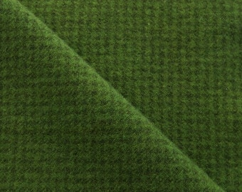 Christmas Green Houndstooth Hand Dyed Felted Wool Fabric Perfect for Rug Hooking, Applique and Crafts by Quilting Acres