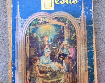Antique Childrens Book - The Story of Jesus  - Hardcover - 1941 - Book #2
