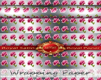 Rose 1 Wrapping Paper, Camo Pattern, Gift Wrap Great For Any Occasion. Made In USA