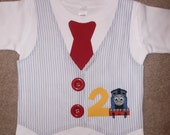 Boys Train and Vest with Tie Shirt