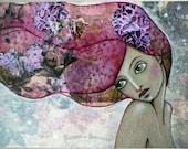 """Postcard Print """"Lilac Hair"""""""