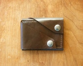 """Leather Wallet """"The Rawly"""" in Chocolate Espresso"""
