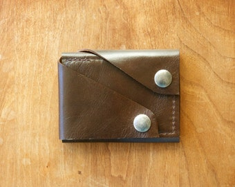 "Leather Wallet ""The Rawly"" in Chocolate Espresso"